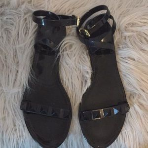 Women's Aldo black jelly sandals, size 9
